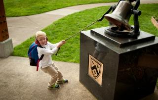 elementary school, school bell, bell