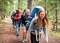 Sophomores hiking during Outdoor Ed Week