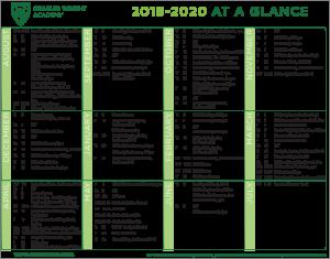CWA All-School Calendar 2019-20