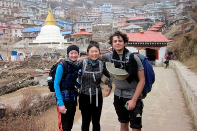 Students in Nepal for Winterim