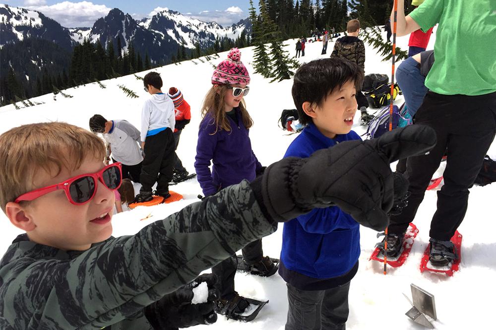 lower school third grade at Mt. Rainier