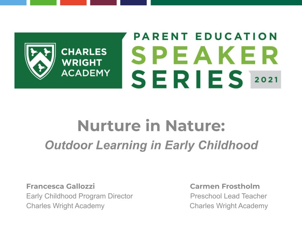 Nurture in Nature: Outdoor Learning in Early Childhood